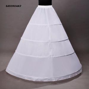 Image 3 - High Quality Ball Gown Wedding Petticoat 4 Hoops Crinoline Slip Underskirt For Women Bridal Puffy Skirt Accessories Sottogonna