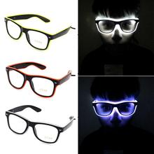 led light cosplay scary series mask rave costume lights neon led bright chrstimas blink mask nighttime glow in dark party decor Standard Luminous LED Glasses EL Wire Fashion Neon LED Cold Light Glasses for Dancing Party Bar Meeting Glow Rave Costume Party
