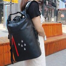 25L Tauchen Dry Bag Wasserdichte Backpackable Segeln Kajak Ausrüstung Packsack Falten Eimer Fischen Trocken Sack PVC Undurchlässig Bouy