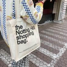 Women Canvas Shopping Bag Notting Hill Books Bag Female Cotton Cloth Shoulder Bag Eco Handbag Tote Reusable Grocery Shopper Bags