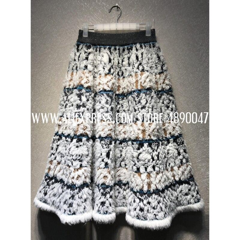 Изготовленная на заказ трикотажная Жаккардовая юбка, качественная женская юбка, юбка-американка, эластичная Женская юбка с высокой талией