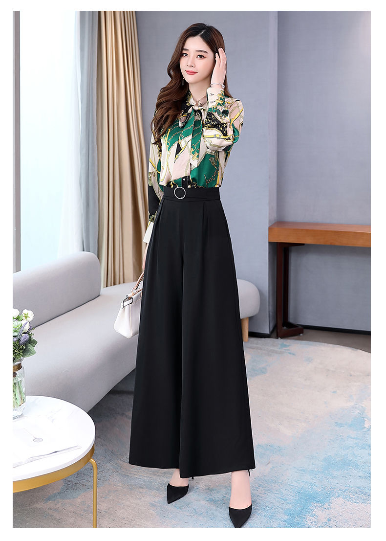 H14f4b46564e14c9b831e86070db231654 - Summer Two Piece Set OL Women Sets Plus Size Two Piece Set Top And Pants Wide Leg Pants Woman Tracksuit /outfit/suit/Set 2 Piece