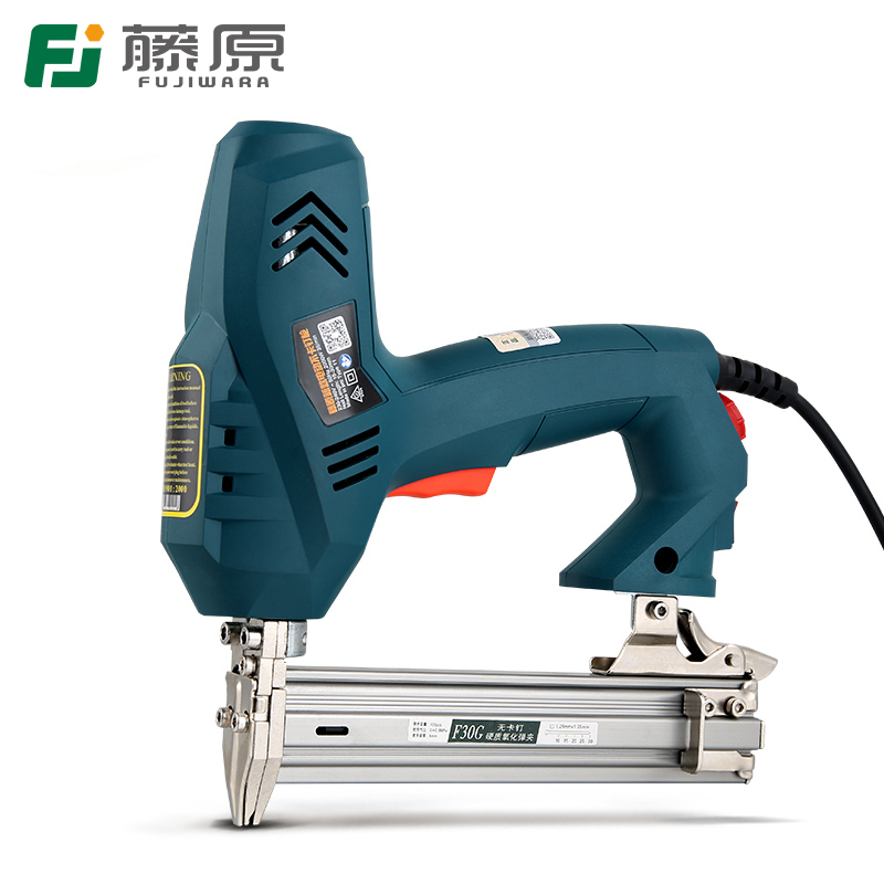 Tools : FUJIWARA Electric Nail Gun 1-use 2-use Nailer Stapler F30 422J Nails Woodworking Tools Ejection Device