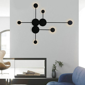 Minimalist Modern Gold Black White LED Wall Lamp for Staircase Bedroom Living Dining Room Loft Hall Corridor Nordic Indoor Decor modern minimalist circle led bedside wall lamp post modern staircase corridor bedroom living room restaurant wall lamp