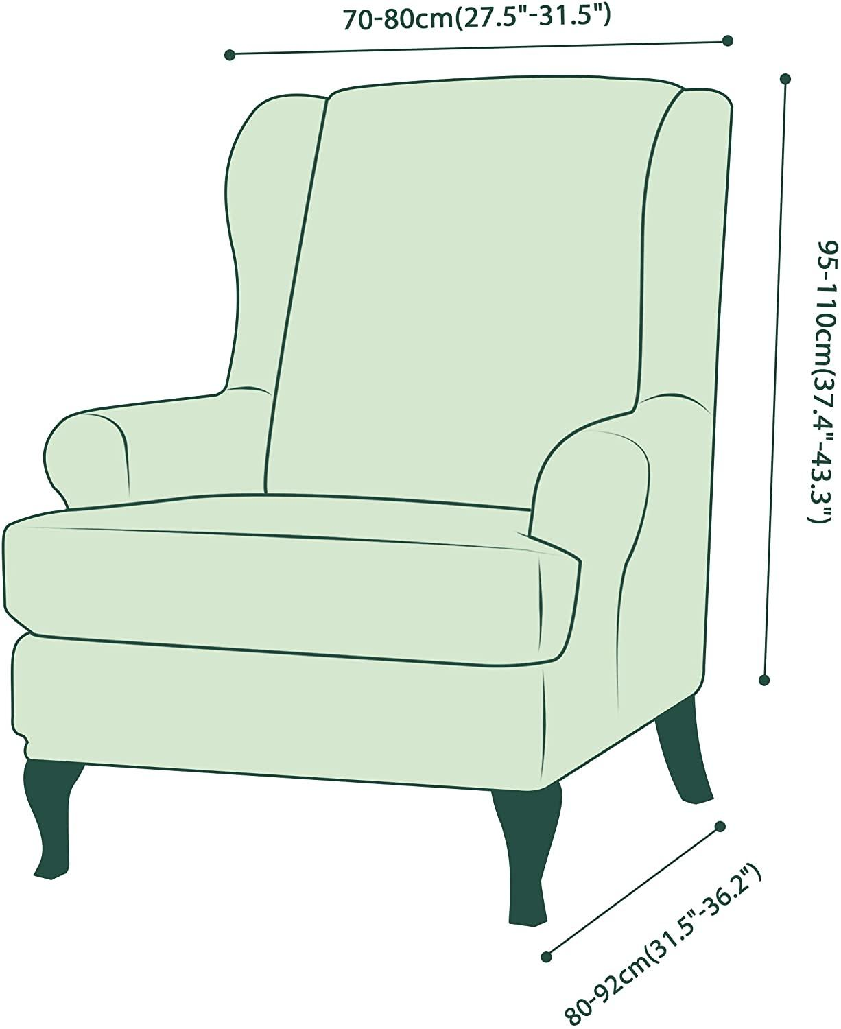 Velvet Couch Slipcover For Wingback Chairs 24 Chair And Sofa Covers