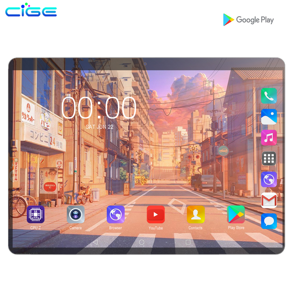 Hot Super 10 Inch Tablet PC Octa Core 6GB RAM 128GB ROM Android 9.0 WiFi GPS Dual SIM 3G 4G Network Phone Call Pad 10.1 Tablets