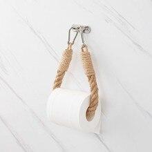 Towel Paper-Holder Decoration-Supplies Stand Hanging-Rope Toilet Bathroom Vintage Home