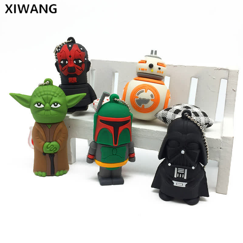 Hot usb flash drive 2 0 silicon flash memory stick 128GB 64GB 16GB 8GB 4GB Pen Drive Star Wars pendrive 32GB usb stick Best gift in USB Flash Drives from Computer Office