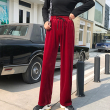 Women Wide Leg Pants Loose High Waist Solid Pants Casual Vertical Soft Pleated Pant Trousers Straight nine points casual pants недорого