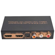 4K @ 60Hz HDR HDMI Audio Extractor HDMI Switch 3D Satu Optical Coaxial HDCP2.2 LR Arc Audio EDID Setting untuk PS3 HDTV DVD STB Uni Eropa PL(China)