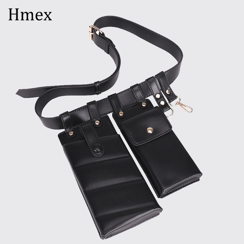 New Pu Leather Fanny Pack Waist Bag Belts For Woman Shoulder Bag Mobile Phone Packs Chest  Female Purse Crossbody Bag