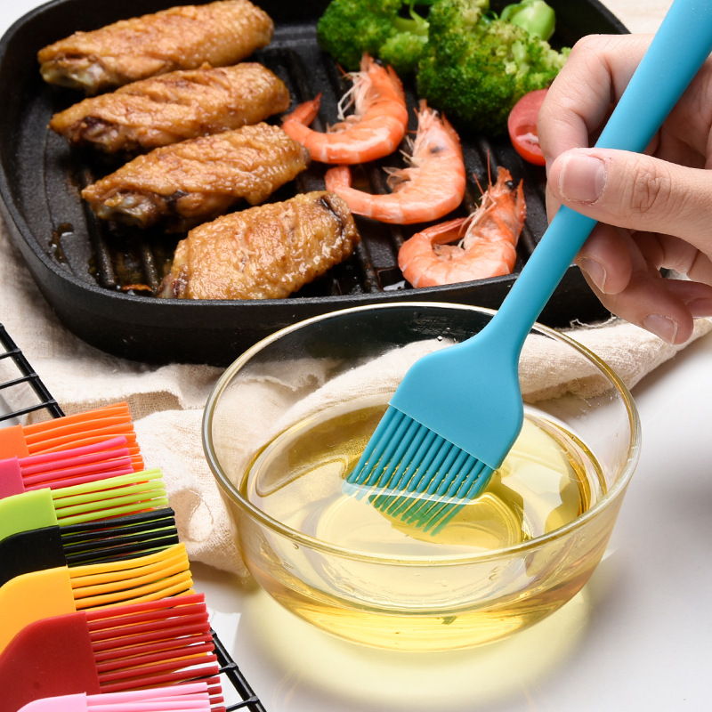 Non-stick Bbq Accessories Basting Brushes Tool Best Silicone Brush Baking Bakeware Bread Cook Brushes Pastry Oil Kitchen Gadgets