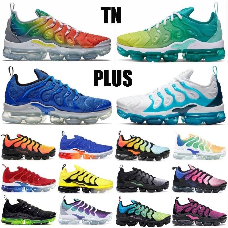 Best Selling TN Plus Triple Black White Olympic Rainbow Grape Men Hiking Shoes Be True Game Royal Racer Blue Designer Sneaker