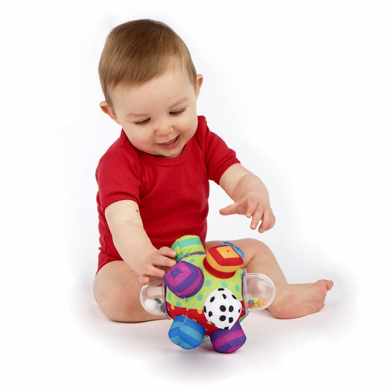 Children Kids Boy Girl Colorful Bumpy Rattle Ball Learning Developmental Toy Gift