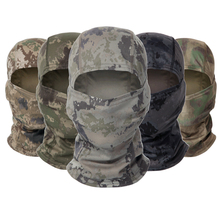 Tactical Camouflage Military Uniform Full Face Mask CS Army Hunting Helmet Liner Cap Multicam Military Tactique Accessories