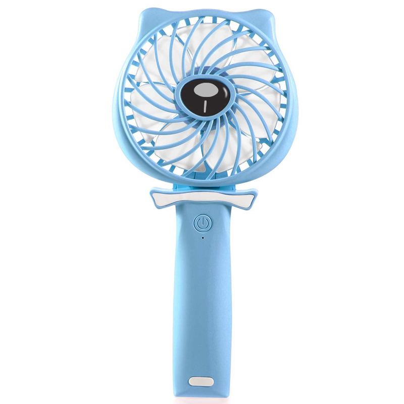Handheld Fan Portable  Hand Held Personal Fan Rechargeable Battery Operated Powered Cooling Desktop Electric Fan With Base  2600|Fans| |  -