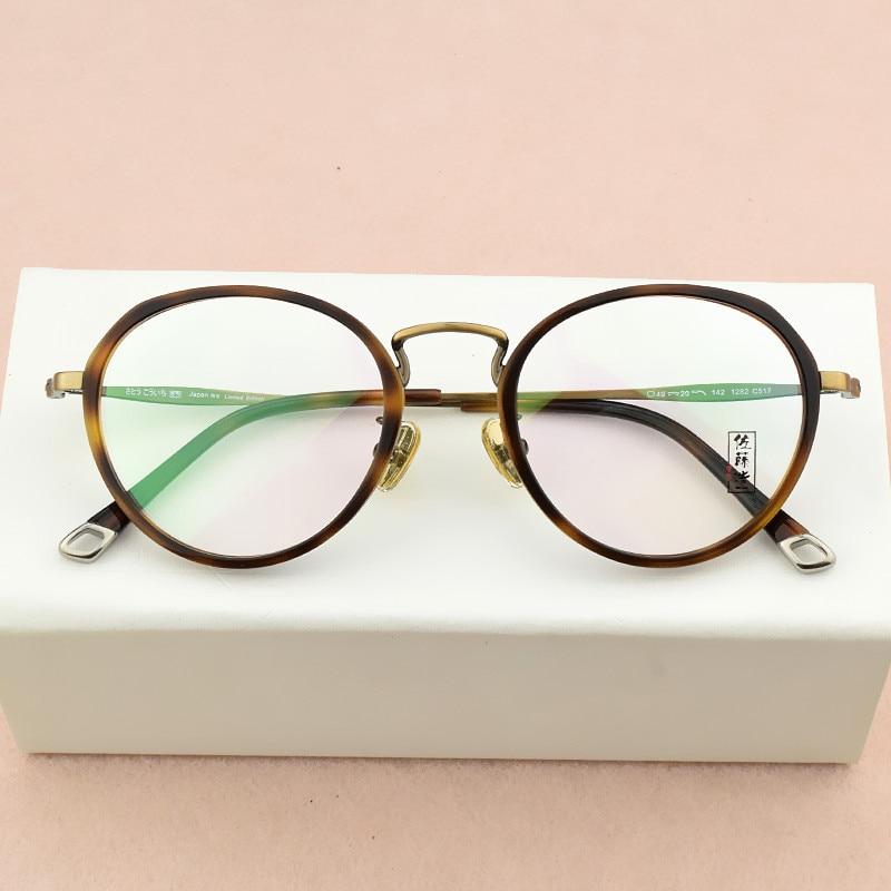 2019 Retro fashion eye glasses frames for men optical glasses frame women round eyeglasses frame Women's spectacle frames Men's