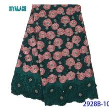 Высокое качество кружевная ткань нигерийское кружево ткань Африканская кружевная ткань французские кружевные ткани для вечерние платье YA2928B-10
