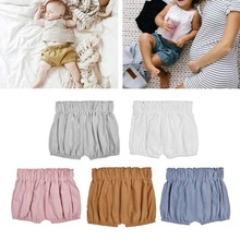New Baby Boy Girls Cotton Shorts Infant Ruffle Bloomers Toddler Summer Panties For 0-6 Months 19QF