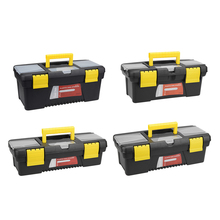 uxcell Tool Box Plastic with Tray and Organizers Includes Re