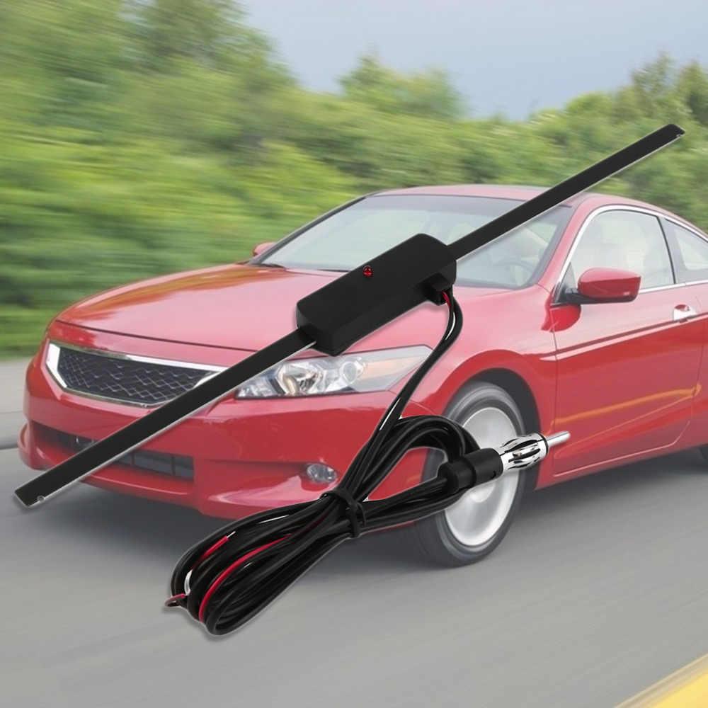 Novo 2017 novo preto antena do carro universal pára-brisa eletrônico AM-FM rádio antena não direcional venda quente de alta qualidade