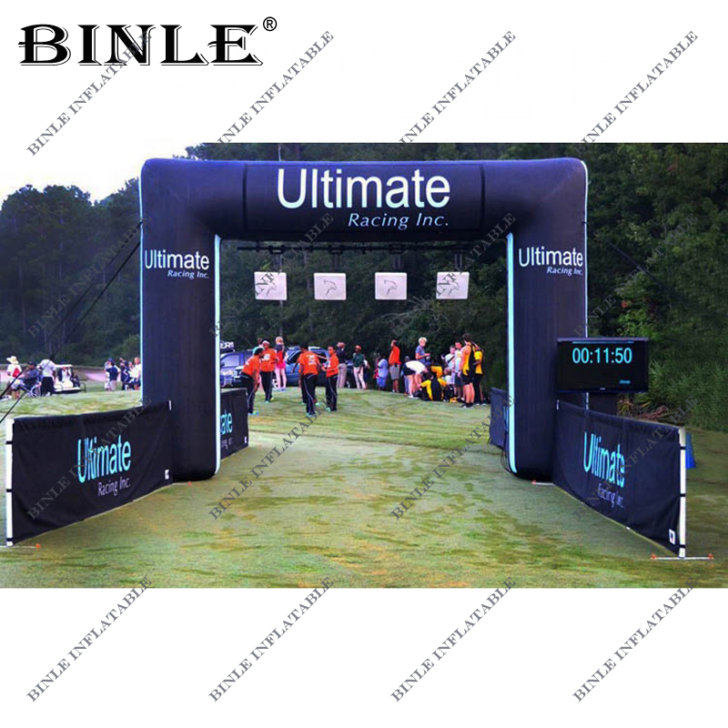 Custom Ultimate Inflatable Square Arch With Fan for Marathon,Triathlon,Race,Event