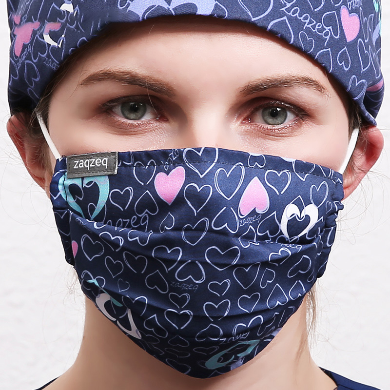 2 Layers Cotton Masks Masks Windproof Mouth-muffle Bacteria Proof Flu Face Masks Care Work Mask Adjustable Quality