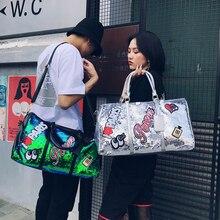 PU waterproof Travel Bag Fashion sequins handbag large capacity Yoga Fitness handbags men and women  shoulder bags  Luggage bag