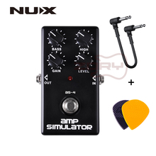 NUX AS-4 Amplifier Simulator Pedal Guitar Electric Effect Pedal True Bypass Black High Quality Guitar Accessories+ Free Picks nux pt 6 chromatic pedal tuner with metal casing true bypass guitar accessories music instrument