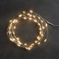 Star String LED Decoration Lights AA Battery Operated 4M Copper Light String Decorative Xmas Snowflake Garland for Bedroom Party