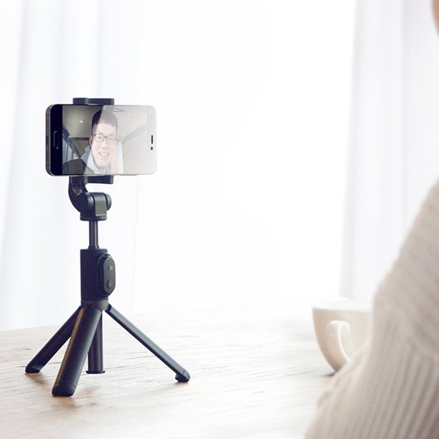Oryginalny Xiaomi składany statyw kijek do Selfie Bluetooth z bezprzewodowym przyciskiem kijek do selife z migawką do telefonu iOS/Android