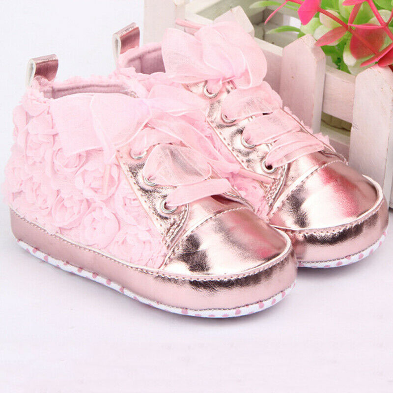 0-18M Baby Girl PU Leather Shoes Non-slip Lace Floral Embroidered Soft Shoes Prewalker Walking Toddler Kids Shoes Drop Shipping