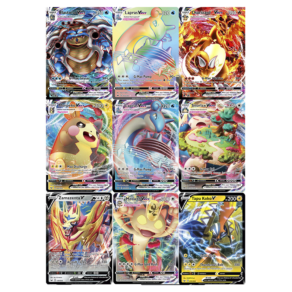 Newest Pokemon Card Sword & Shield Vmax TAG TEAM Shining Cards Game Battle Trading Children Gift Toy TAKARA TOMY