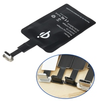 Adaptador de cargador inalámbrico rápido Universal, Micro USB tipo C, para Samsung, iPhone, huawei, Android, QI, Receptor de carga inalámbrica