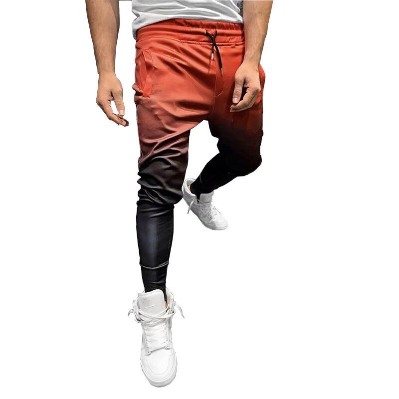 GYMLOCKER 3D Gradient Men's Jogger Sweatpants Gyms Fitness Quick-drying Trousers Men Slim Fit Bodybuilding Pants Men Clothing