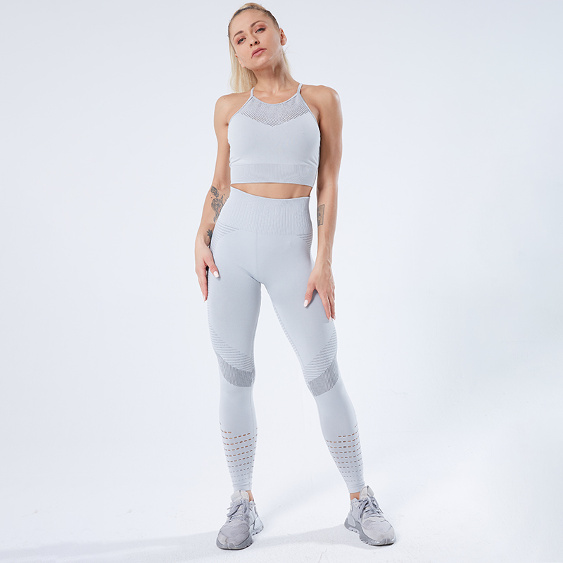 SALSPOR Stretchy Seamless Leggings Women Shark Fitness High Waist Yoga Pants Gym Women Push Up Sport