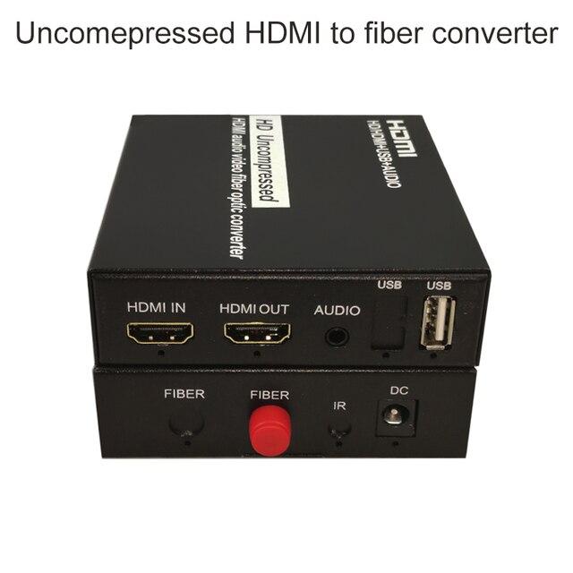 HDMI sur la prise en charge du convertisseur de fibres 1080P non compressé HDMI audio vidéo sans perte sans retard jusquà 20KM dextension
