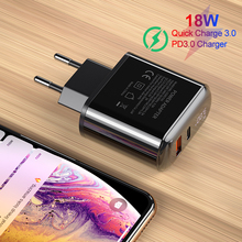 LED Display Mobile phone charger,YKZ charger 18W QC3.0 quick Charger wall For iPhone Samsung Huawei Xiaomi Phone Adapter
