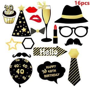 Image 3 - Taoup 40th Birthday Party Tableware Paper Plates Banners Tablecloth Towels Happy 40 Birthday Party Decorations Adults Parents