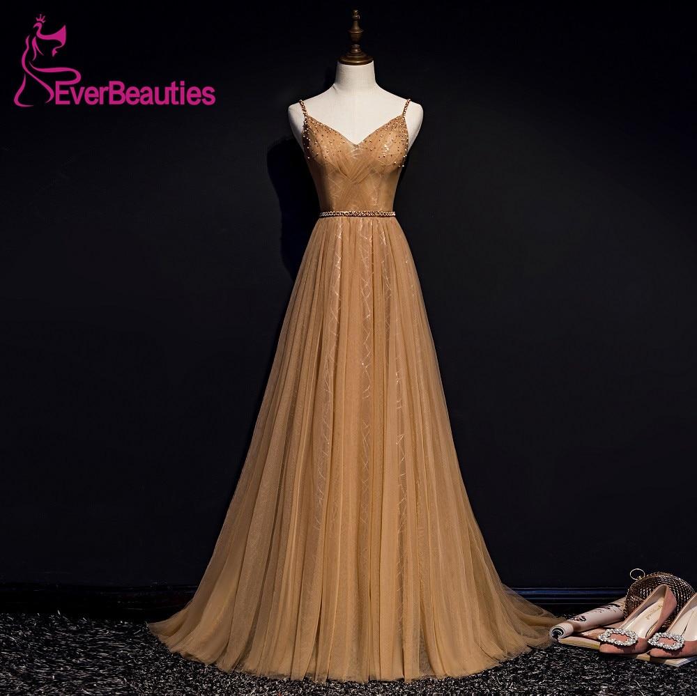 Abendkleider Robe De soirée longue 2019 Tulle perlé robes De soirée formelles Abiye Gece Elbisesi Robe De soirée