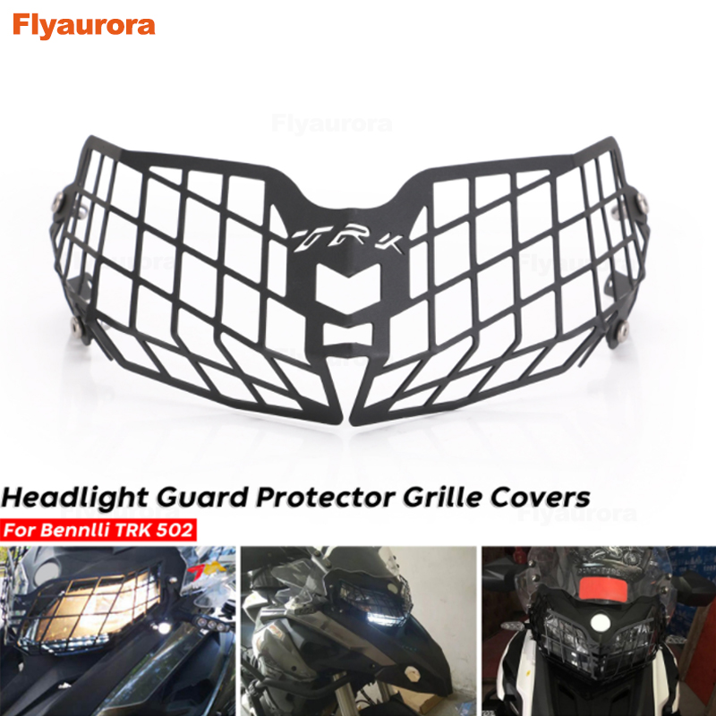 Moto Parts Motorcycle Accessories Headlight Guard Protector Grille Covers Mount Protector Guard For Benelli TRK502 TRK 502X
