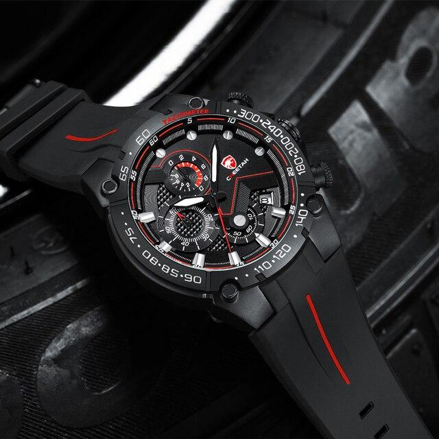 Top Brand CHEETAH Men Watch Casual Business Wristwatch Fashion Luxury Silicone Strap Sports Waterproof Clock Relogio Masculino 2