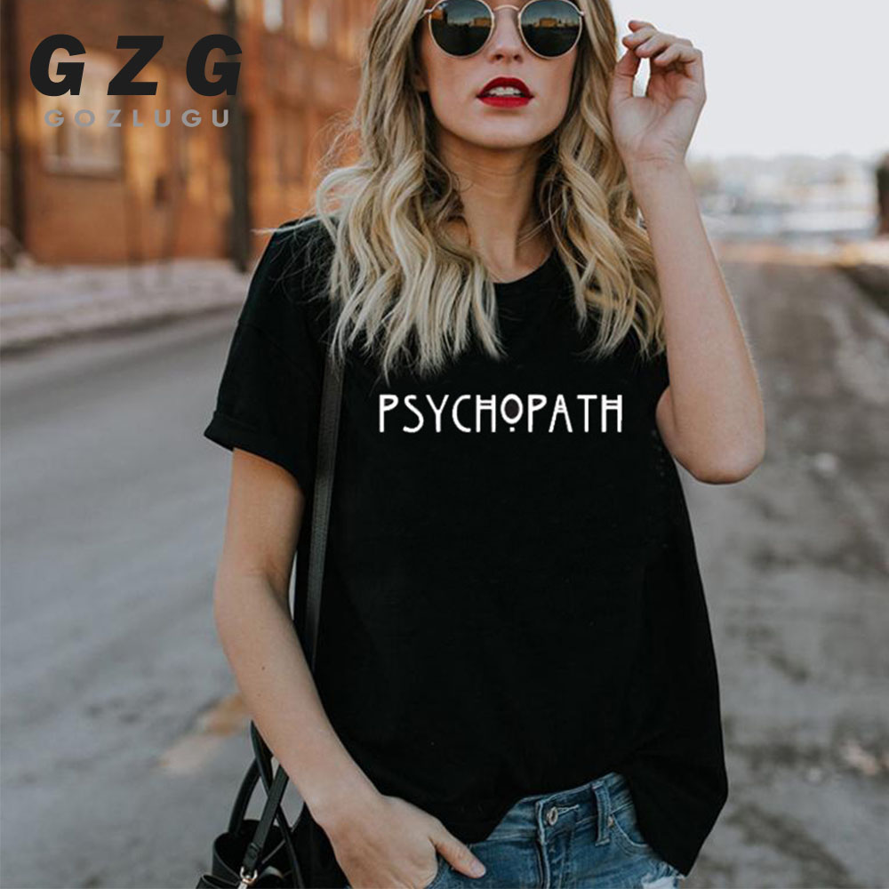Factory Sellers American Horror Story Tee Unisex PSYCHO T Shirt Fashion PSYCHOPATH T-Shirt Casual Cotton Funny Women Men T Shirt