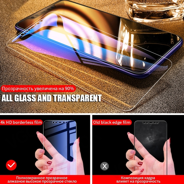 9D Full Cover Tempered Glass For Xiaomi Mi 8 SE A2 Lite Mix 2 2S 3 Protective Glass Film On the Mi 6 6X Max 2 3 Screen Protector 3