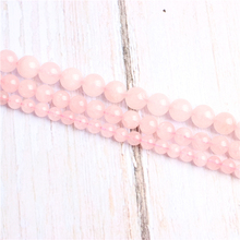 Pink crystal Natural Stone Beads For Jewelry Making Diy Bracelet Necklace 4/6/8/10/12 mm Wholesale Strand