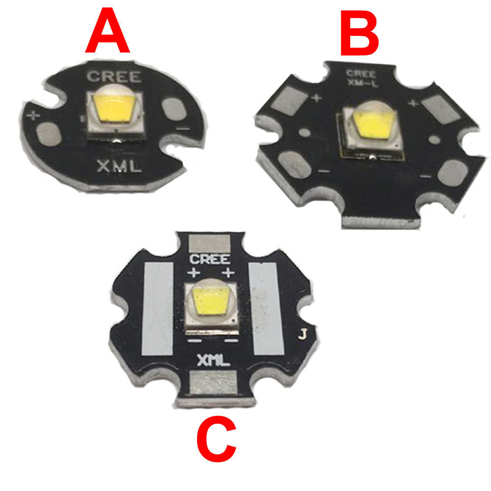 Cree Xlamp XM-L2 XML2 T6 10W Koel Wit 6500K High Power Led Light Emitter Diode Voor Zaklamp Op 20 Mm Zwart Pcb