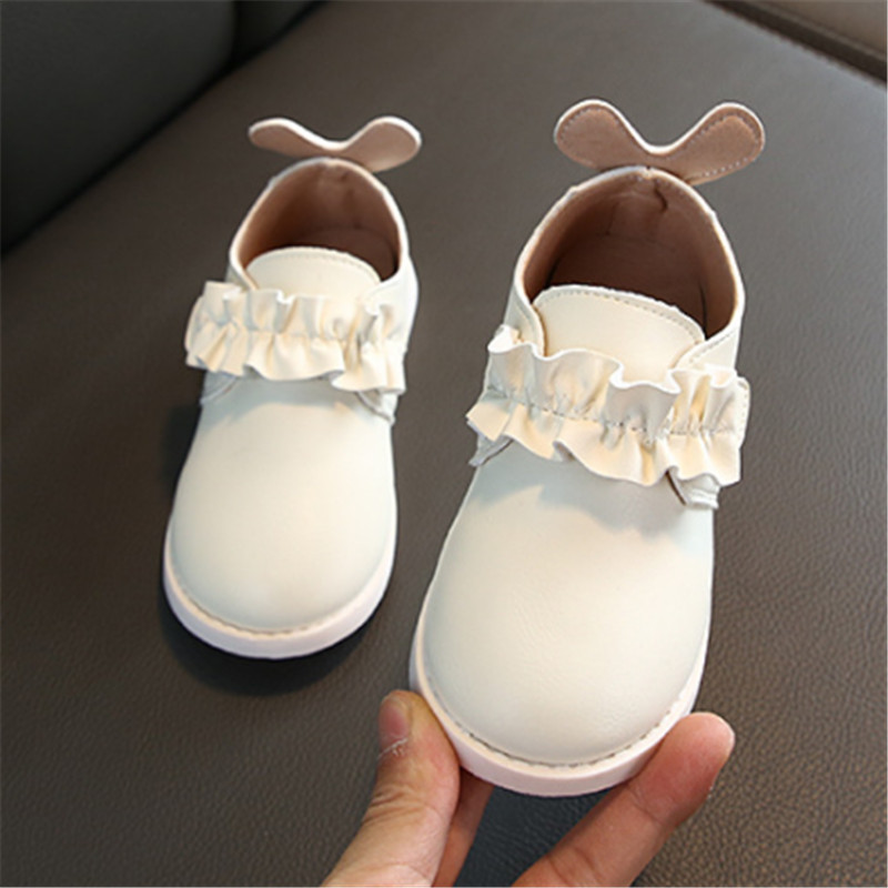 Shoes Girls Leather Solid School Shoes For Girls Chaussure Fille Soft Baby Toddler Kids Girls Shoes Size 21-30