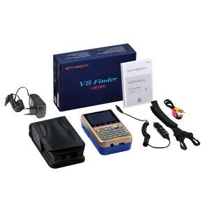 Image 5 - GTmedia Satellite Finder Meter V8 Finder HD DVB S2 SatFinder 3.5 pollici colore con 3000mA batteria Freesat V8 Finder FTA Sat finder