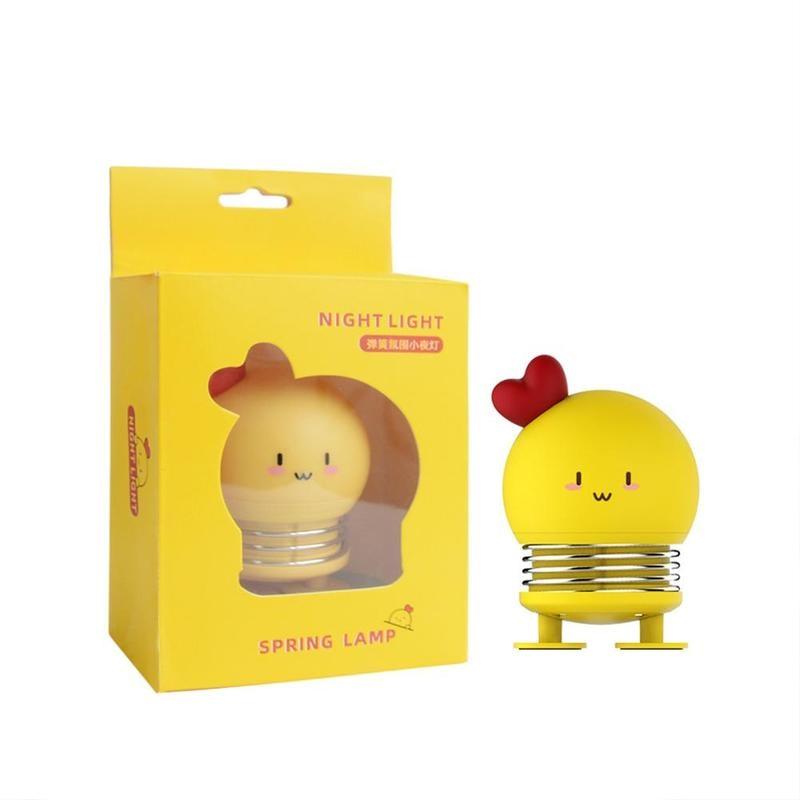 1 шт. креативный весенний переключатель ночник мультфильм милый кролик светодиодный свет снятие стресса игрушка детская спальня освещение