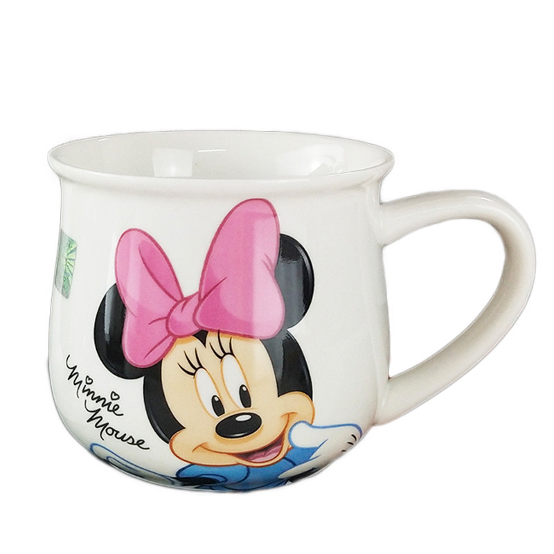 350mL Mickey Minnie Mouse Cartoon Water Cup Milk Coffee Ceramic Mug Love Couple Cups Home Office Collection Cups Women Girl Gift